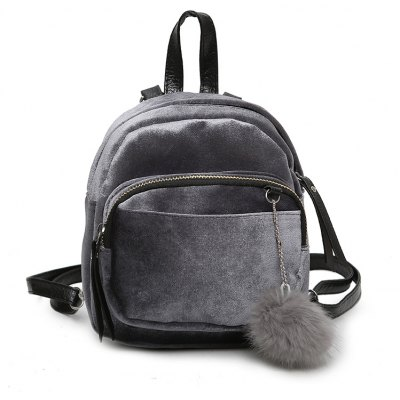 Velvet Mini Simple Casual Backpack