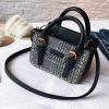 New Wild Handbag Fashion Woolen Shoulder Messenger Bag - BLACK