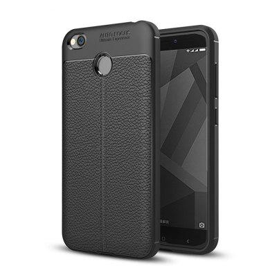 Cover Case for Xiaomi Redmi 4X Luxury Original Shockproof Armor Soft Leather Carbon TPU