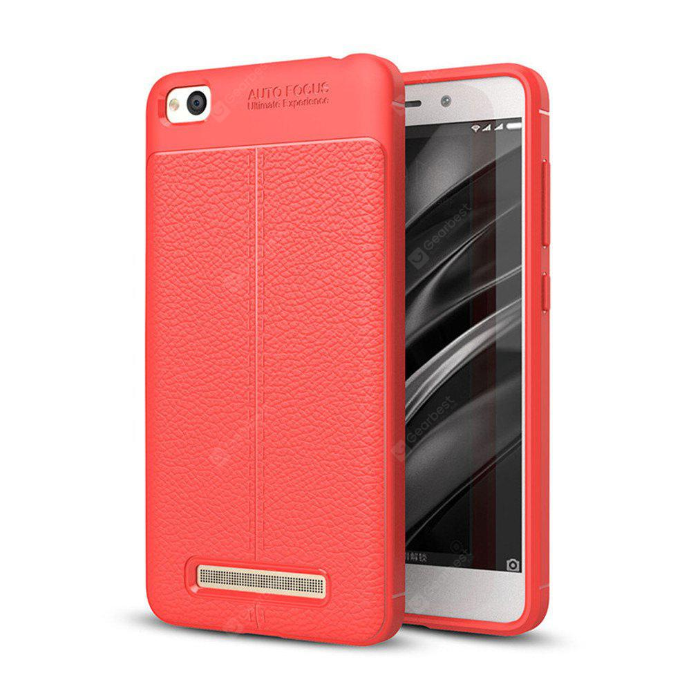 Cover Case for Xiaomi Redmi 4A Luxury Original Shockproof Armor Soft Leather Carbon TPU
