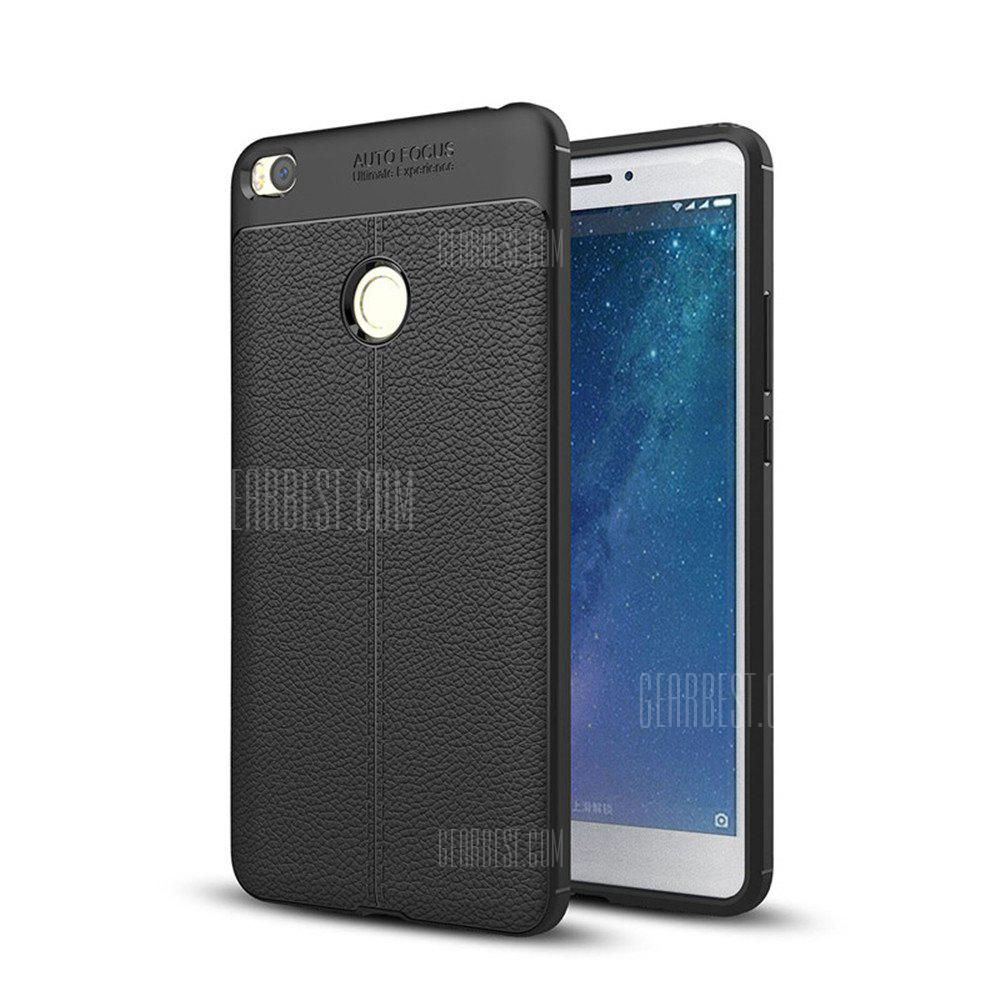 Cover Case for Xiaomi Max 2 Luxury Original Shockproof Armor Soft Leather Carbon TPU