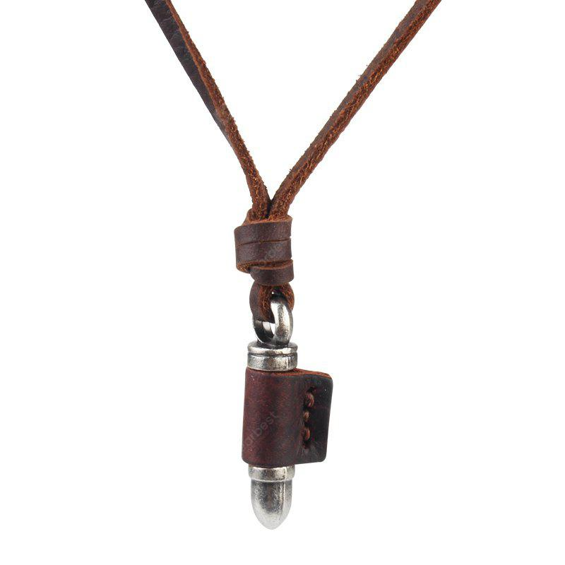 Hot Pin Alloy Cowhide Bullets Pendant Necklace Chain Sweater Chain