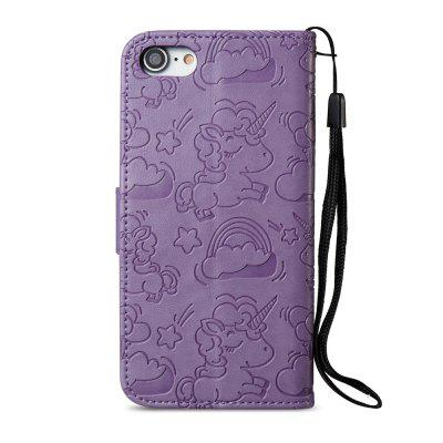 Pu Leather Case for iPhone 7 / 8 Horse and Cloud Embossing Card Slot Wallet CoveriPhone Cases/Covers<br>Pu Leather Case for iPhone 7 / 8 Horse and Cloud Embossing Card Slot Wallet Cover<br><br>Compatible for Apple: iPhone 7, iPhone 8<br>Features: With Credit Card Holder, With Lanyard, Anti-knock, Wallet Case<br>Material: TPU, PU Leather<br>Package Contents: 1 x Phone Case<br>Package size (L x W x H): 15.00 x 7.50 x 1.80 cm / 5.91 x 2.95 x 0.71 inches<br>Package weight: 0.0600 kg<br>Style: Pattern, Funny, Cool