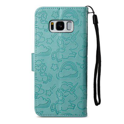 Pu Leather Case for Samsung Galaxy S8 Horse and Cloud Embossing Card Slot Wallet CoverSamsung S Series<br>Pu Leather Case for Samsung Galaxy S8 Horse and Cloud Embossing Card Slot Wallet Cover<br><br>Compatible with: Samsung Galaxy S8<br>Features: With Credit Card Holder, With Lanyard, Anti-knock<br>For: Samsung Mobile Phone<br>Material: TPU, PU Leather<br>Package Contents: 1 x Phone Case<br>Package size (L x W x H): 16.00 x 8.00 x 1.80 cm / 6.3 x 3.15 x 0.71 inches<br>Package weight: 0.0640 kg<br>Style: Pattern, Funny, Cool