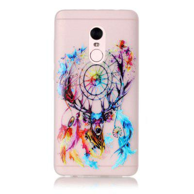 Deer Head Soft TPU Case for Xiaomi Redmi Note 4 Ultra Thin Transparent Noctilucent Cover