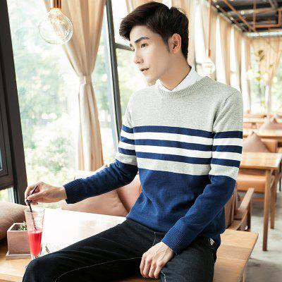 Slim Fashion Round Neck SweaterMens Sweaters &amp; Cardigans<br>Slim Fashion Round Neck Sweater<br><br>Collar: Collarless<br>Material: Cotton<br>Package Contents: 1 xSweater<br>Package size (L x W x H): 1.00 x 1.00 x 1.00 cm / 0.39 x 0.39 x 0.39 inches<br>Package weight: 0.6400 kg<br>Size1: M,L,XL,2XL,3XL<br>Sleeve Length: Full<br>Type: Cardigans