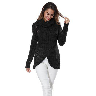 Button Long Sleeved  Long Sleeve SweaterSweaters &amp; Cardigans<br>Button Long Sleeved  Long Sleeve Sweater<br><br>Collar: Turtleneck<br>Elasticity: Elastic<br>Material: Polyester, Spandex<br>Package Contents: 1 X Sweater<br>Sleeve Length: Full<br>Style: Fashion<br>Type: Pullovers<br>Weight: 0.2600kg