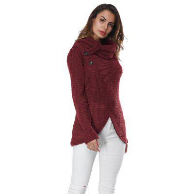 Button Long Sleeved  Long Sleeve SweaterSweaters &amp; Cardigans<br>Button Long Sleeved  Long Sleeve Sweater<br><br>Collar: Turtleneck, Turtleneck<br>Elasticity: Elastic, Elastic<br>Material: Polyester, Polyester, Spandex, Spandex<br>Package Contents: 1 X Sweater, 1 X Sweater<br>Sleeve Length: Full, Full<br>Style: Fashion, Fashion<br>Type: Pullovers, Pullovers<br>Weight: 0.2300kg, 0.2300kg
