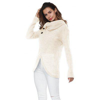 Button Long Sleeved  Long Sleeve Sweater