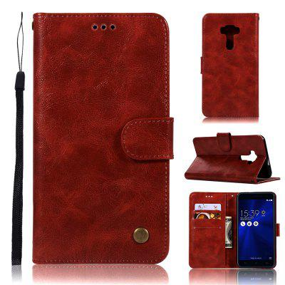 Vintage Fashion Flip Leather Case PU Wallet Cover Cases For Asus Zenfone 3 ZE552KL 5.5 inch Phone Bag with Stand