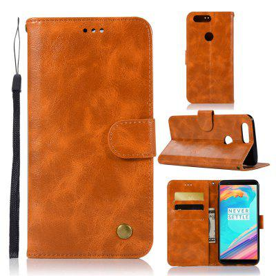 Luxurious Vintage Fashion Flip Leather Case PU Wallet Cover Cases For OnePlus 5T Case Phone Bag with Stand