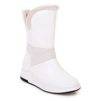 New Shoes Donna Big Size Flat Heel Round Toe Moda Snow Boots