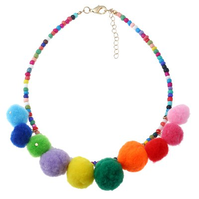 The Seven - Colored Rice Ball Necklace
