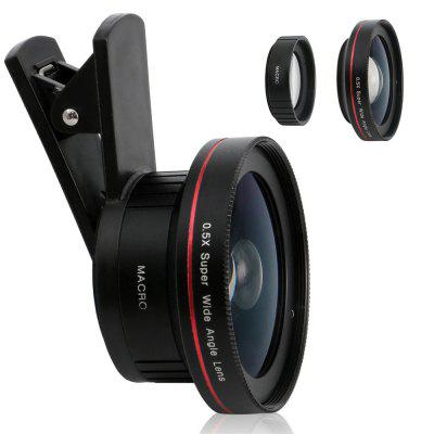 Buy Macro Lens Camera Lens Long Clip 15X Macro 0.5X Wide Angle Lens Cell Phone Camera Lens for iPhone X 8 7TECNOitel BLACK AND RED for $12.27 in GearBest store
