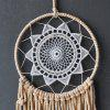 Fiore di pizzo fatto a mano nappa Big Dream Catcher Wall Hanging Home Decor Craft Ornament Gifts Dreamcatcher - DAISY