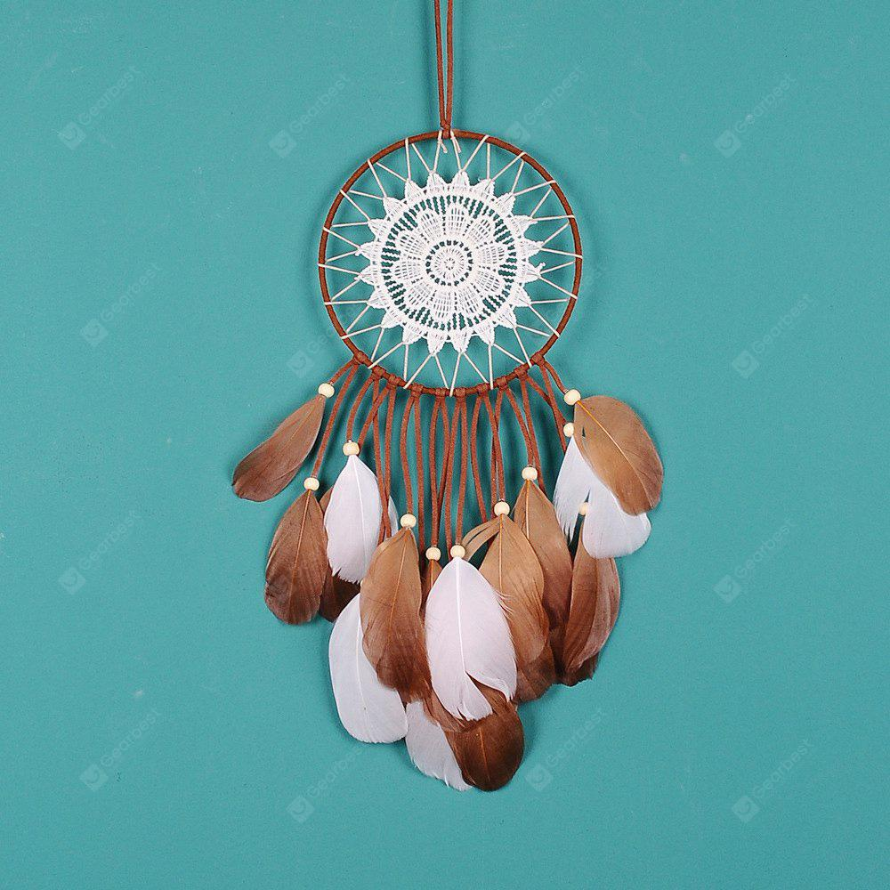 Mythical Indian Dreamcatcher con piume naturali Handmade Dream Catcher & Wind Chimes Wedding & Home Wall Hanging Deco