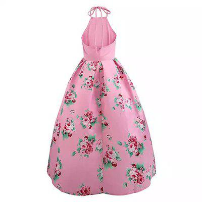2018 New Sling Spliced and Retro DressWomens Dresses<br>2018 New Sling Spliced and Retro Dress<br><br>Dresses Length: Ankle-Length<br>Elasticity: Micro-elastic<br>Embellishment: Vintage<br>Fabric Type: Broadcloth<br>Material: Cotton<br>Neckline: Halter<br>Package Contents: 1 x Dress<br>Pattern Type: Print<br>Season: Spring, Winter, Fall, Summer<br>Silhouette: Ball Gown<br>Sleeve Length: Sleeveless<br>Sleeve Type: Off The Shoulder<br>Style: Vintage<br>Waist: Natural<br>Weight: 0.3000kg<br>With Belt: No