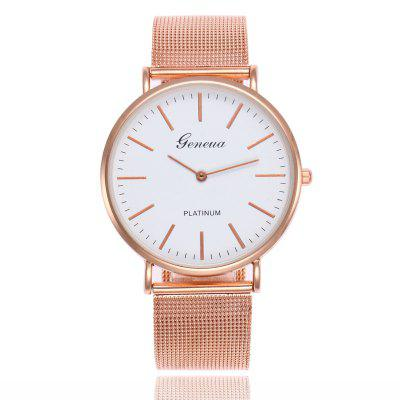 Geneva Ultrathin Business Stainless Steel Quartz Watch
