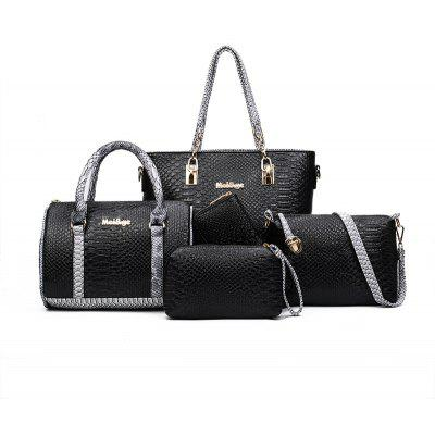 Crocodile Pattern Mother Package Five Pieces of Portable Shoulder Diagonal Bag