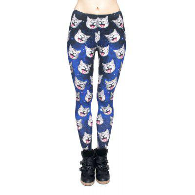 High Quality Smile Cat 3D Printing Casual Pants Womens Leggings Yoga Pants