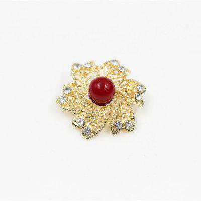 New Fashion Fashionable Snowflake Brooch Pearl Decorations Christmas Gift for Women