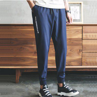 Youth Fashion Trend Elastic Casual Trim PantsMens Pants<br>Youth Fashion Trend Elastic Casual Trim Pants<br><br>Closure Type: Elastic Waist<br>Elasticity: Nonelastic<br>Embellishment: Pockets,Adjustable Waist<br>Fabric Type: Worsted<br>Fit Type: Loose<br>Length: Normal<br>Material: Polyester<br>Package Contents: 1x Sports pants<br>Package size (L x W x H): 1.00 x 1.00 x 1.00 cm / 0.39 x 0.39 x 0.39 inches<br>Package weight: 0.3000 kg<br>Pant Style: Pencil Pants<br>Pattern Type: Others<br>Style: Casual<br>Thickness: Standard<br>Waist Type: Mid