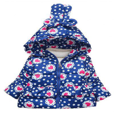 Girl'S Winter Extra Thick Hooded Long Sleeve Coat