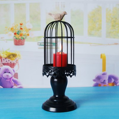 Flower Horse Time European-Style Iron Art Bird Cage Candlestick Wind Lamp American Country Simple Classic Home Decoratio