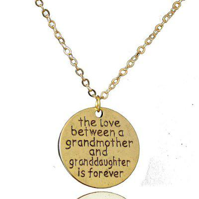 family necklace round dot tag fashion pendant necklace