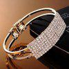 New Fashion Elegant Women Bangle Wristband Bracelet Crystal Cuff Bling Lady Gift - GOLD
