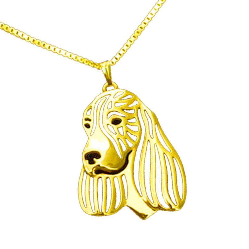 fashion dog shape cute pendant necklace