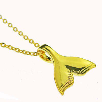 Fish Tail Mermaid Pendant Silver-plated animal necklace