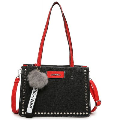 Hit Color Wild Hand-Riveted Atmosphere Bag