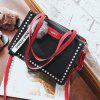 Hit Color Wild Hand-Riveted Atmosphere Bag - NERO
