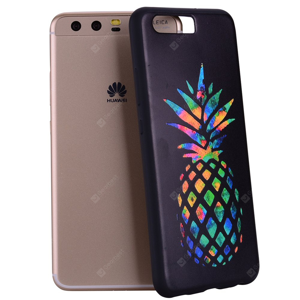 Pour Huawei P10 Multicolore Ananas TPU Anti-goutte Téléphone Protection Shell