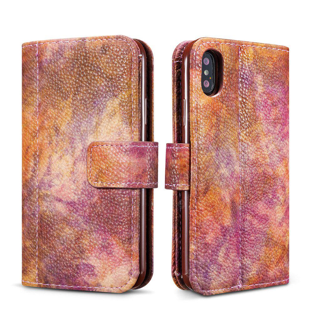 For iPhone X Forest Big Wallet Leather Wallet Phone Case Bracket Phone Case