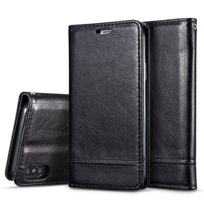 For iPhone X Double-Sided Adsorption Splicing Card Holder Holster