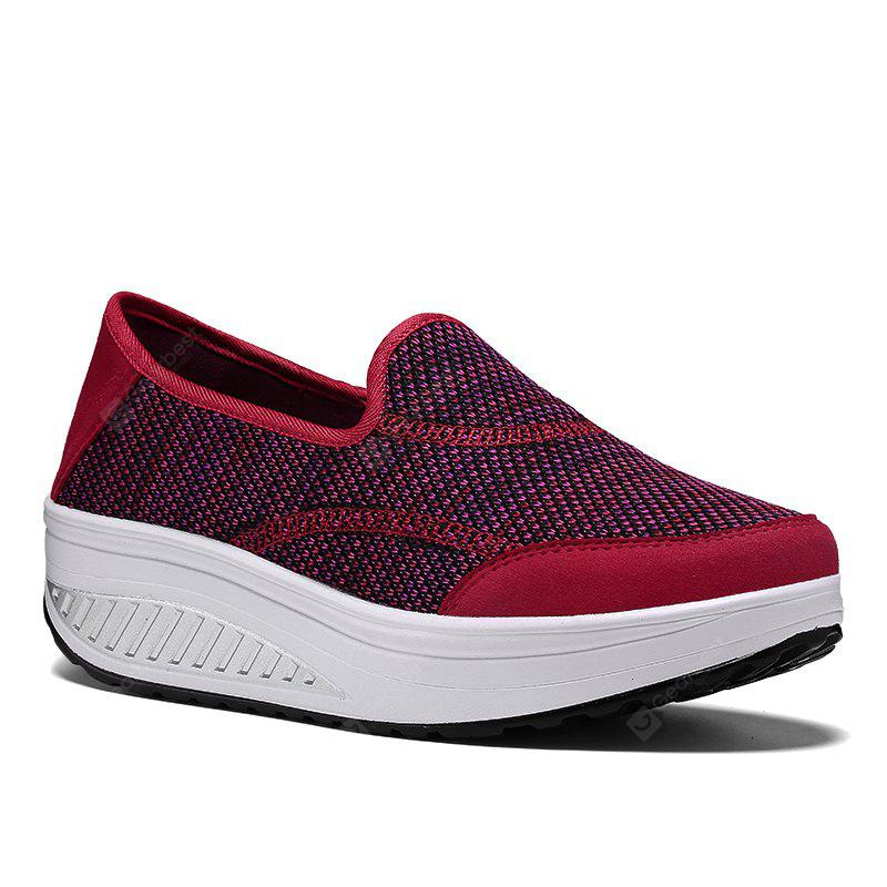 New Large Size Spring and Summer Mesh Breathable Platform Sports Shoes