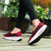 New Large Size Spring and Summer Mesh Breathable Platform Sports Shoes - RED