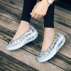 The New Large-Size Thick Cake Sponge Sequin Chinese Style Shoes - SILVER
