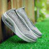 New Large Size Lace Mesh Cushion At The End of Women'S Casual Shoes - GRAY