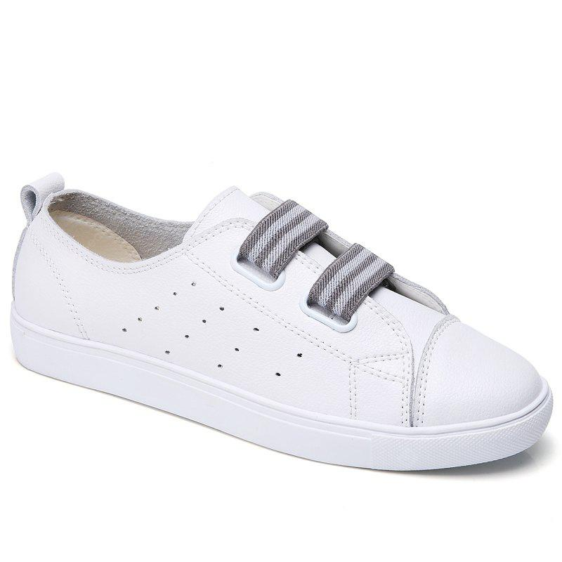 New Autumn Wild Leather Velcro Casual Shoes