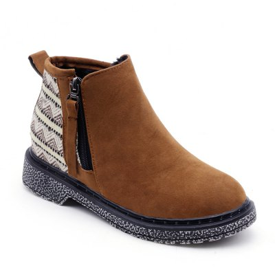 New Winter Low To Add Cotton Casual Lady Snow Boots