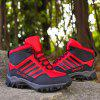 New Men'S Sanding Skin and Casual Hiking and Hiking Shoes - BLACK AND RED