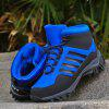 New Men'S Sanding Skin and Casual Hiking and Hiking Shoes - BLACK AND BLUE