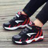 New Children'S Leather Leisure Sports Shoes - BLACK AND RED