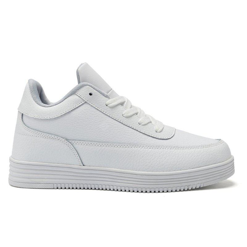 New Men'S High-Top White Shoes for Leisure Sports
