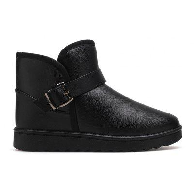 The New Men'S Leather Snow Boots