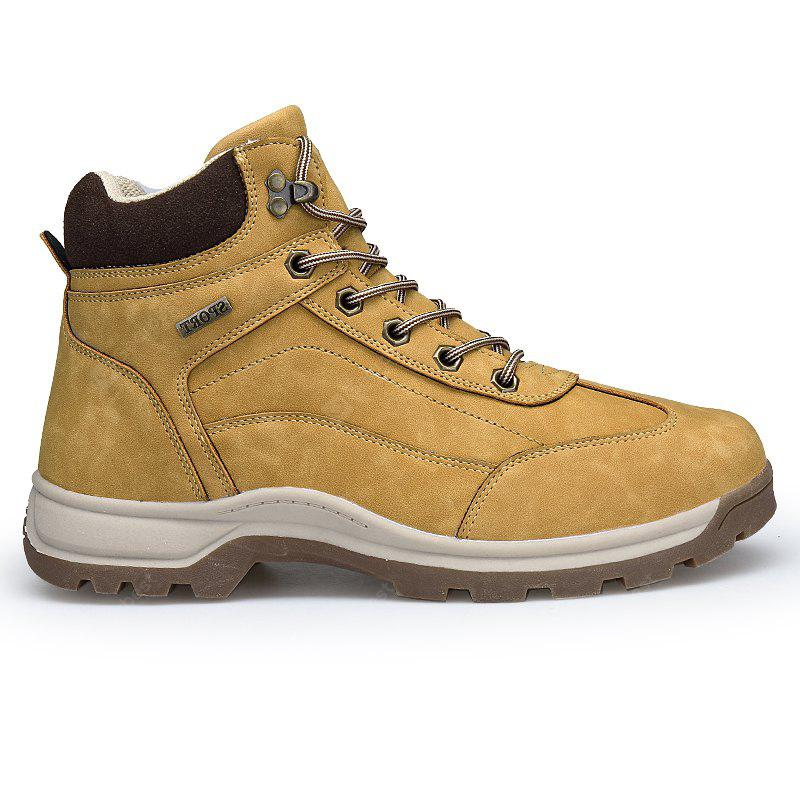 New Men'S Winter Plush High-Barrel Casual Shoes