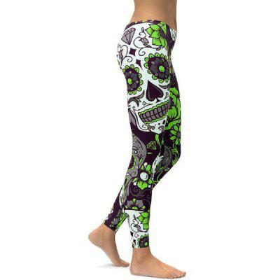Fashion Retro Women Legins Green Skull Printing Legging Woman Cozy High Waist LeggingsPants<br>Fashion Retro Women Legins Green Skull Printing Legging Woman Cozy High Waist Leggings<br><br>Material: Polyester, Spandex<br>Package Contents: 1 x Leggings<br>Pattern Type: Geometric, Print, Skull<br>Style: Active<br>Waist Type: Mid<br>Weight: 0.1500kg